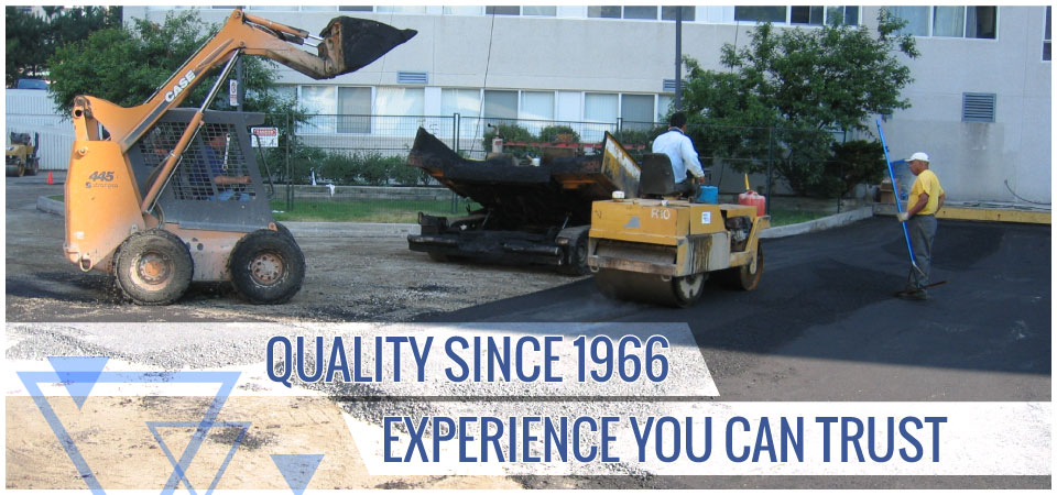 Quality since 1966. Experience you can trust. | Commercial paving of parking lot