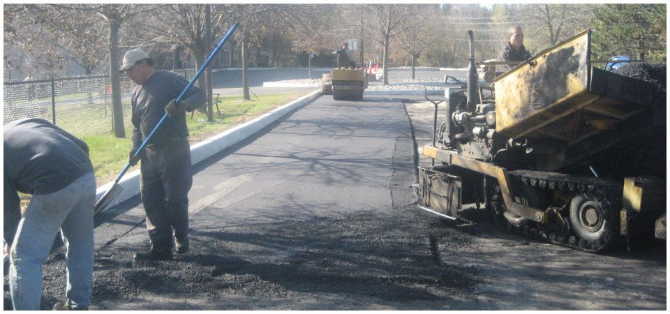 Commercial parking lot paving job