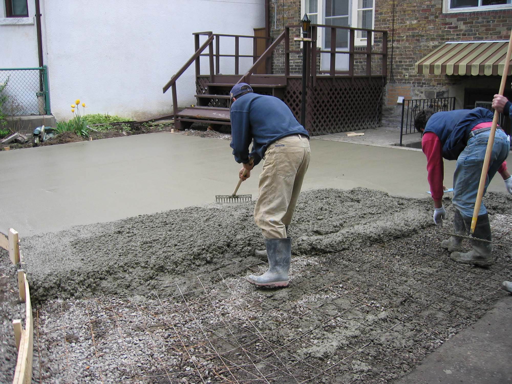concrete working